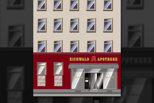 Gestaltung der Fassade der Eichwald Apotheke