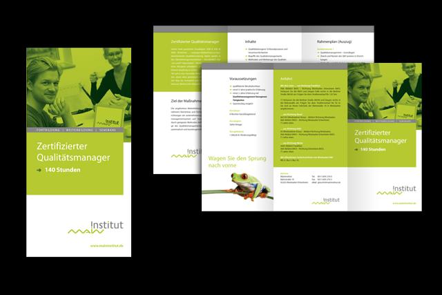 Image-Flyer für Angebote zur Ausbildung