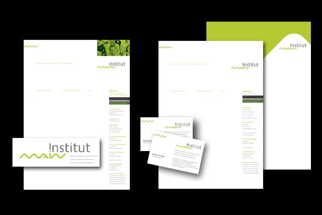 Branding und Geschäftsausstattung für einen Anbieter von Weiterbildungs-Maßnahmen