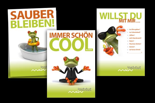 Kommunikative Flyer für junge Zielgruppe (Postkarten / Edgar Cards)