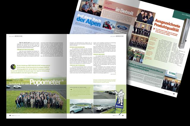 Corporate-Publishing im Bereich Automotive: Mehrsprachige Mitarbeiter- und Firmenzeitschrift