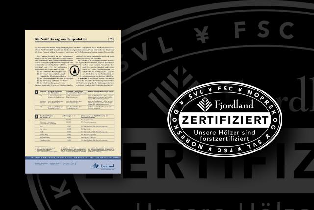 FSC-Zertifikat, Urkunden und Stempel