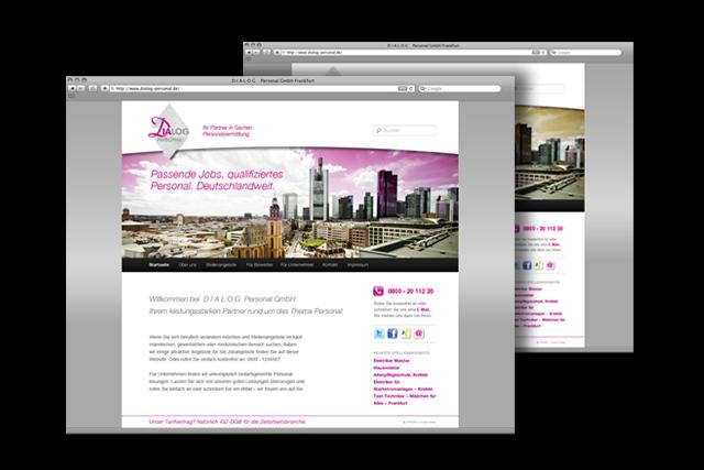Website / Webdesign für Dialog Personal