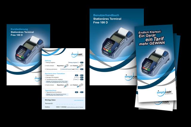 Broschüren, Handbücher, Infoflyer für E-Commerce und Payment