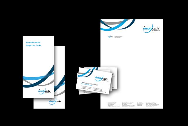 Design der Geschäftsausstattung, Konzept für Flyer E-Commerce