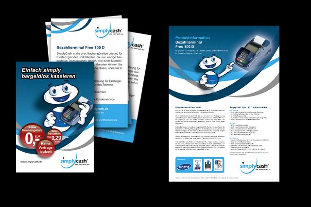 Produktblätter und Broschüren für E-Commerce und Payment Services