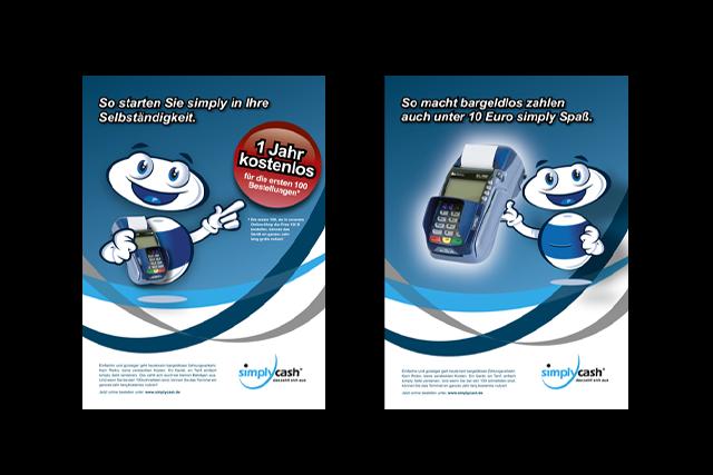 Print-Anzeigen Kampagne für E-Commerce