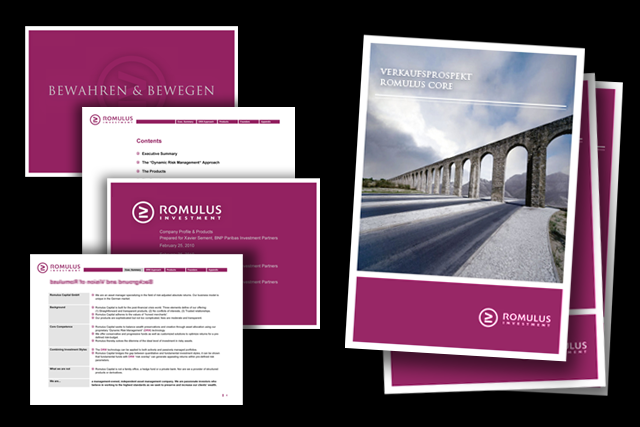 Online Präsentation, PPT Vorlage, Broschüren- und Salesfolder konzept