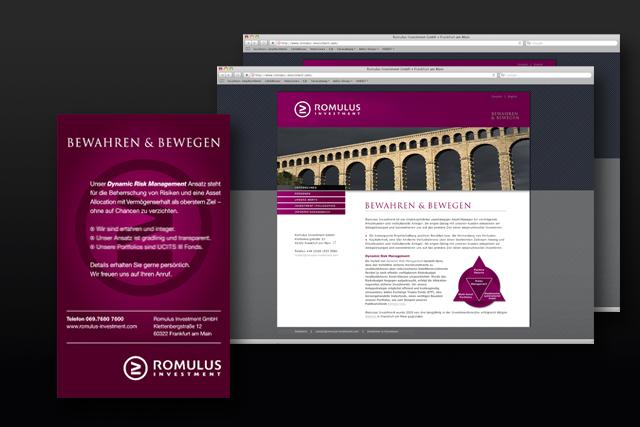 Internetauftritt und Web-Design für Finanzdienstleister, Imageanzeigen