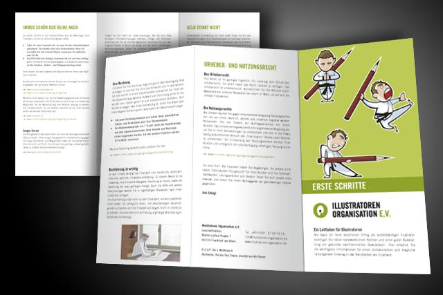 Folder Gestaltung für die IO Frankfurt