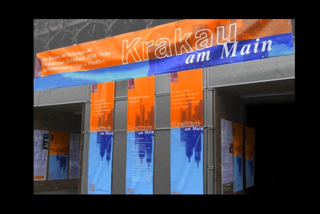 Event-Gestaltung von Bannern, Plakaten für Stadt Frankfurt am Main