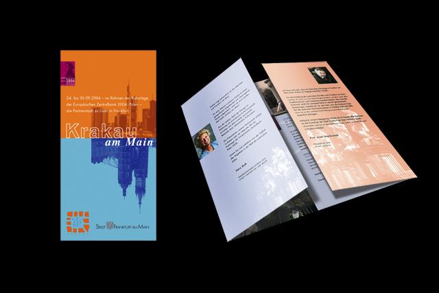 Kampagnen-Flyer mit Keyvisual für Frankfurt