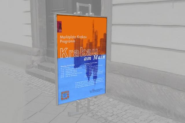 Layout von Plakaten für Frankfurt (zur Verwendung als Kundenstopper)