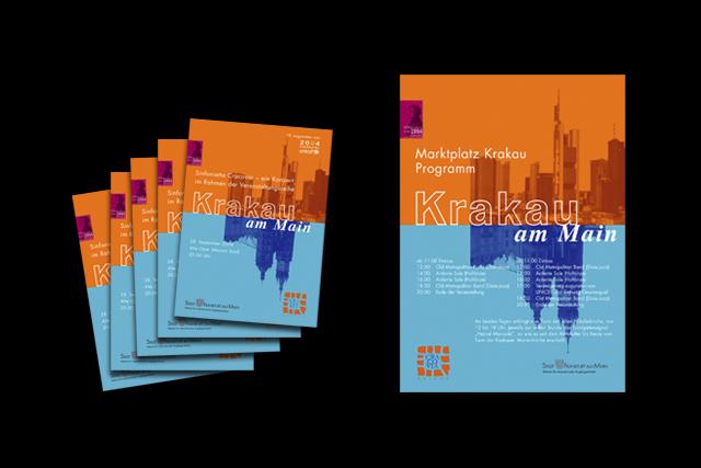 Frankfurt: Flyer mit Programm und Plakat im Rahmen der EZB-Veranstaltungen
