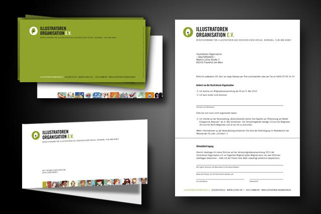 Für die IO Frankfurt, Design und Gestaltung von Drucksachen