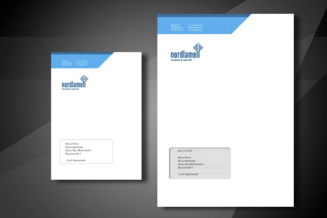 Gestaltung von Briefkuvert im Corporate Design