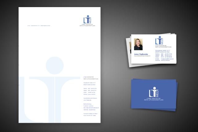 Gestaltung von Broschüren in gutem Design für LT-med Frankfurt