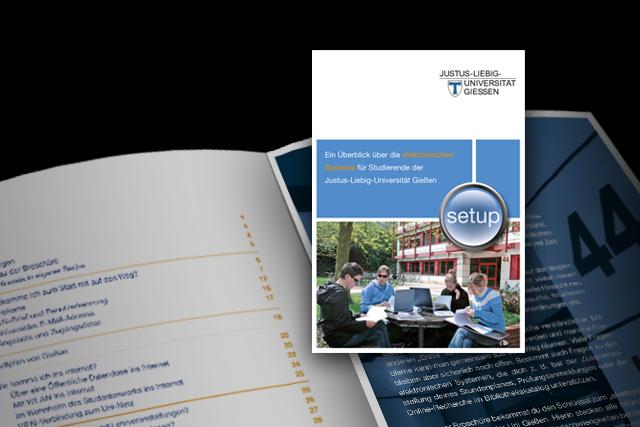 Konzept für die Setup-Broschüre der JLU-Gießen - Titel