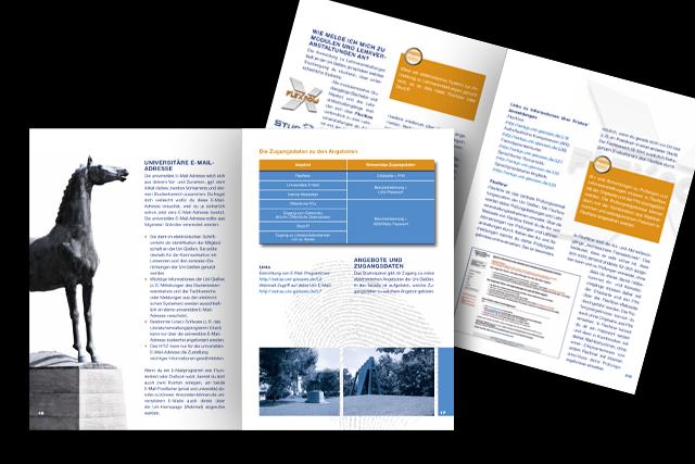Broschüren Gestaltung und Layout der JLU Gießen (Universitäten/Hochschulen) Innenseiten