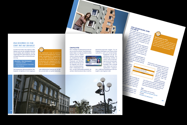 Mehrsprachige Broschüre die Justus-Liebig-Universität Gießen - Innenseiten