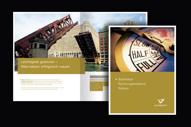 Imagebroschüre für Goldpark Unternehmensberatung