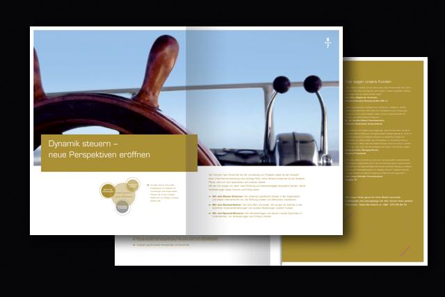 Imagebroschüre für die Goldpark Unternehmensberatung