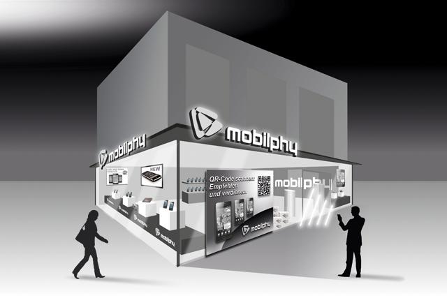 Illustration Mobile Kommunikation für Portal für digitales Empfehlungsmarketing