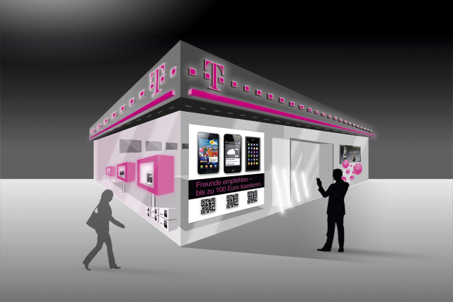 Illustration für Telekom-Shop für Portal für digitales Empfehlungsmarketing