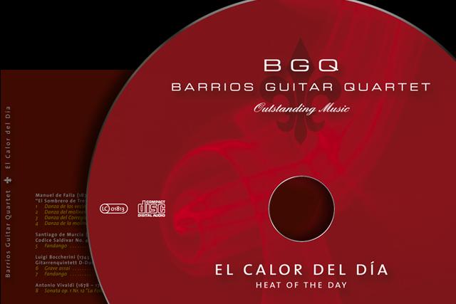 Gestaltung der neuen CD (Musik, Barrios Guitar Quartet)