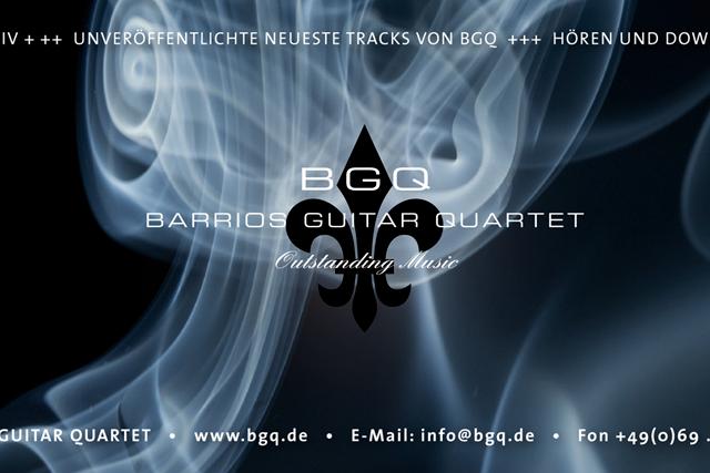 Akquisitions Mailing, Teaser für die neue CD von BGQ (Barrios Guitar Quartet, Kultur )
