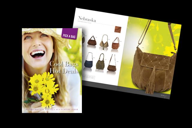 Branding für Label für modische Lederwaren und Accessoires – Katalog