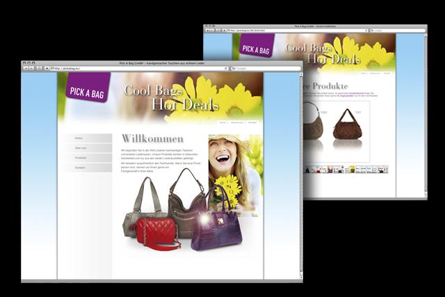 Lederwaren – Webdesign B2B für Handtaschen und Accessoires