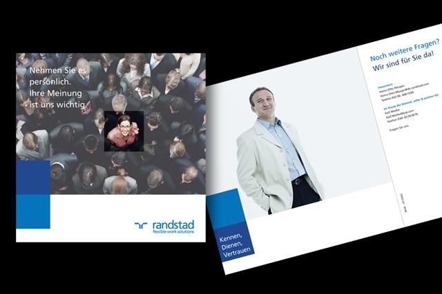 Mailing-Brosochüre für einen Personaldienstleister