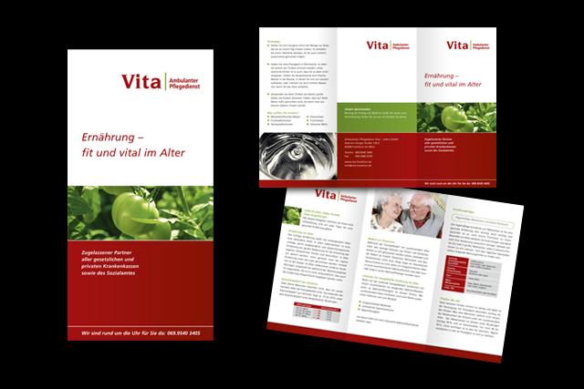 Flyer Gestaltung - medizinische Informationen für Kunden, Angehörige etc. für ambulante Pflegedienste