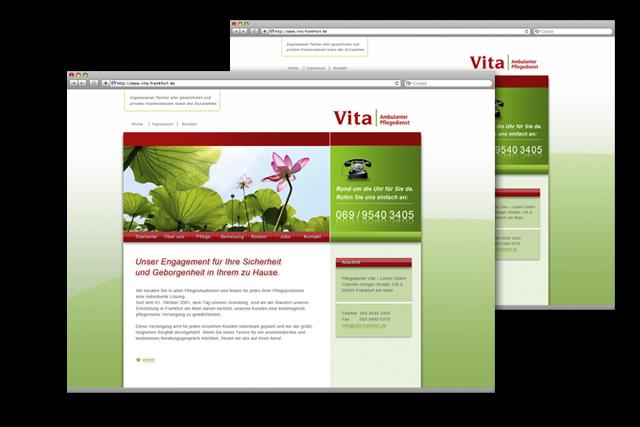 Internet-Auftritt für ambulanten Pflegedienst: die neue Website
