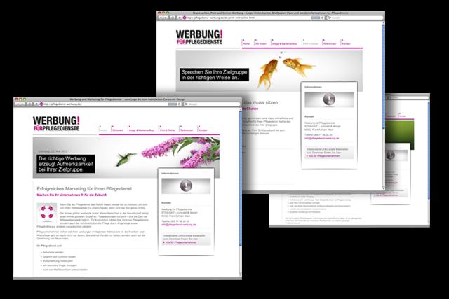 Werbung für Pflegedienste – Webdesign