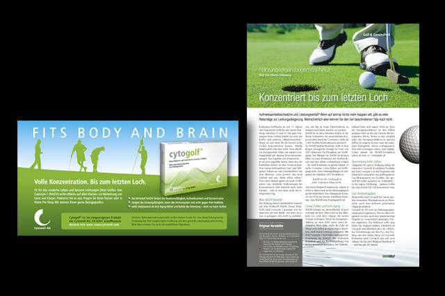 PR-Artikel, Advertorial und Anzeige für Nahrungsergänzungsmittel
