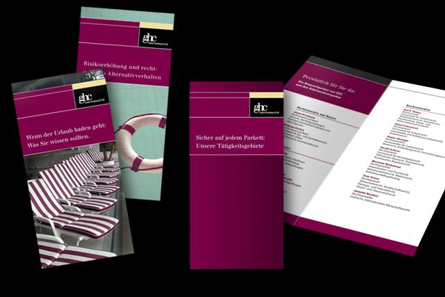 Produktflyer und Imageflyer für Rechtsanwälte und Kanzleien