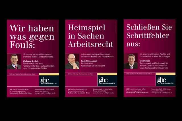 Imagekampagne für Rechtsanwälte und Kanzleien