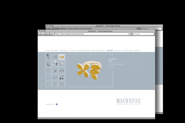 Website für Goldschmiede und echten Schmuck