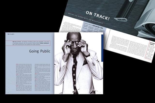 Corporate Publishing: Mitarbeitermagazin für Infineon Halbleiter-Technik