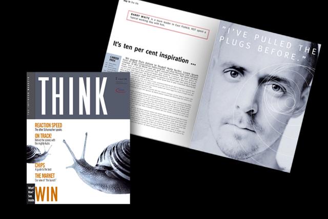 Corporate Publishing: Mitarbeitermagazin für Infineon Halbleiter-Technik - Titel und Innenseite