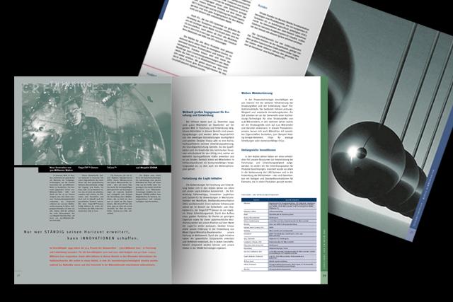 Design des Geschäftsberichts für Infineon Halbleiter-Technik - Innenseiten