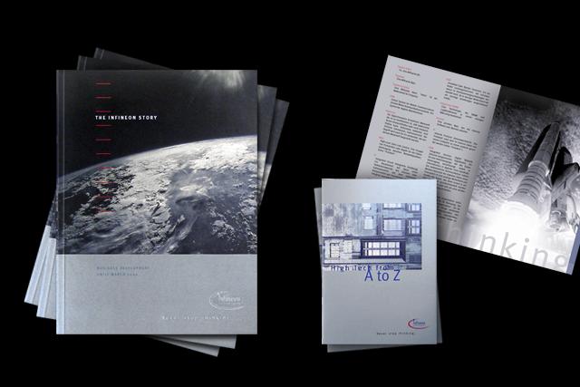Konzept für den Geschäftsbericht, Titel und Glossary – Infineon Halbleiter-Technik