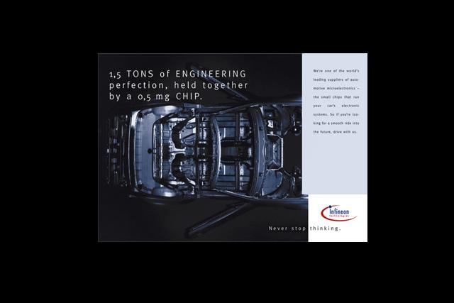 Werbekonzept für die Infineon Image-Kampagne – 18/1 Plakat