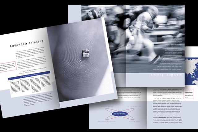 Gestaltung von Produkt-Broschüren für die neue Infineon Halbleiter-Technik