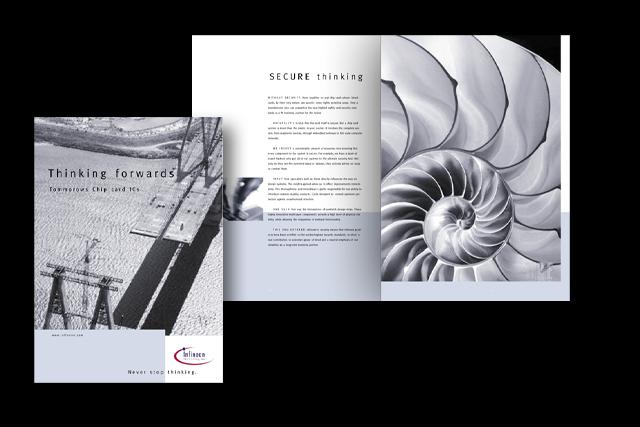 Konzept für Infineon Produkt-Broschüren – Titel und Innenseiten