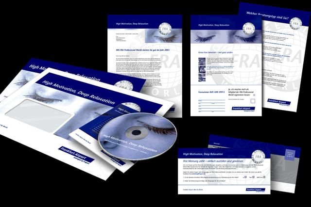 Follow Up Mailing mit neuem Keyvisual, Anschreiben, CD, Befragung