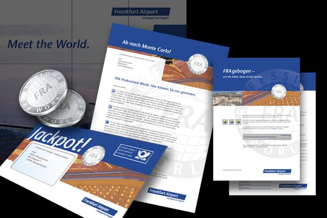 mailing für einladung zur messe mit gewinnspiel | straight frankfurt, Einladungen