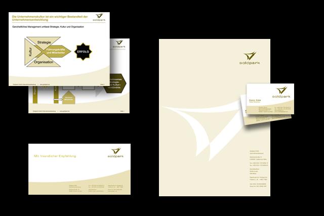 Branding für Unternehmensberater - Geschäftsausstattung, Briefpapier, Visitenkarten, PowerPoint Präsentationsvorlagen